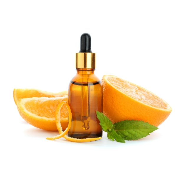orange citrus aroma bottle mint