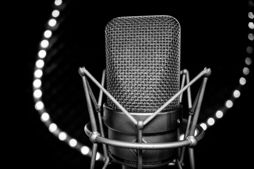 review format your script microphone black background