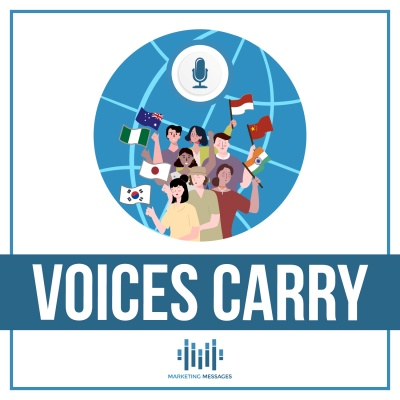 Voices Carry podcast logo