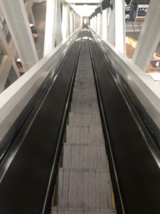 world's longest free-standing escalator