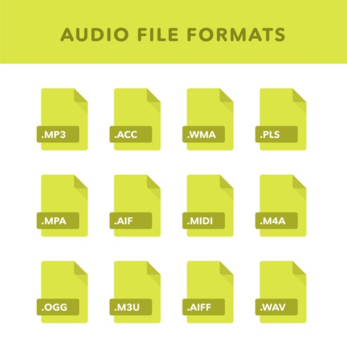 audio file formats mp3 wav